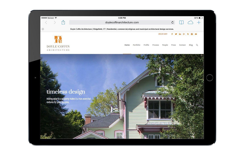Website design doyle coffin architecture graphic design for Architecture design sites