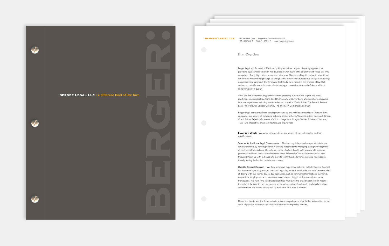 Brand Development: Berger Legal   Graphic Design Portfolio   Maida ...